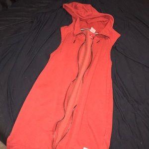 Rust colored Nike zip up vest